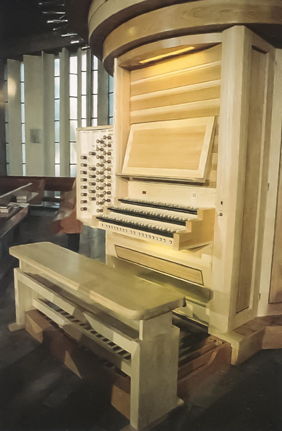 Die Spieltafel der Orgel