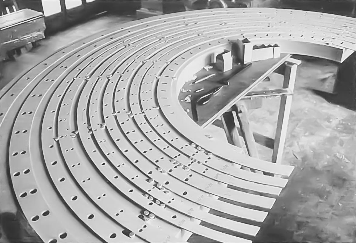 Bild von der Konstruktion der Windlade zum Hauptwerk l.